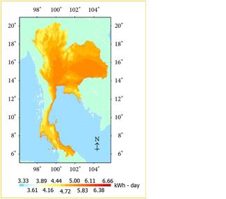 Thailand Irradiance