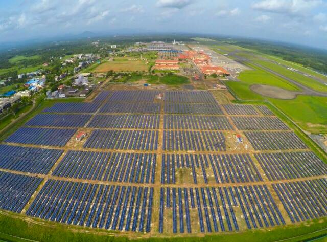 First solar farm on airport