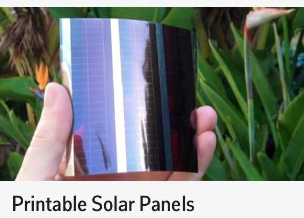 printable solar cell