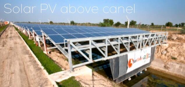 solar pv on canel